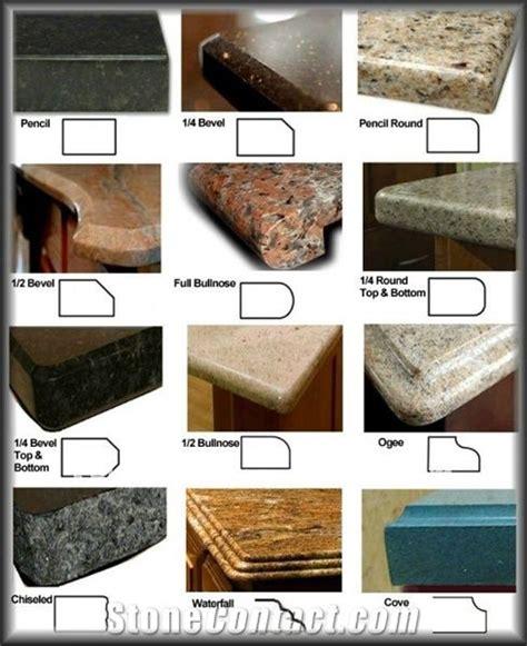 Laminate Countertop Edge Profiles, G682 Yellow Granite