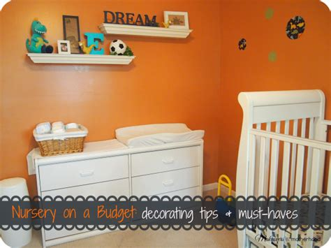 nursery on a budget decorating tips must haves