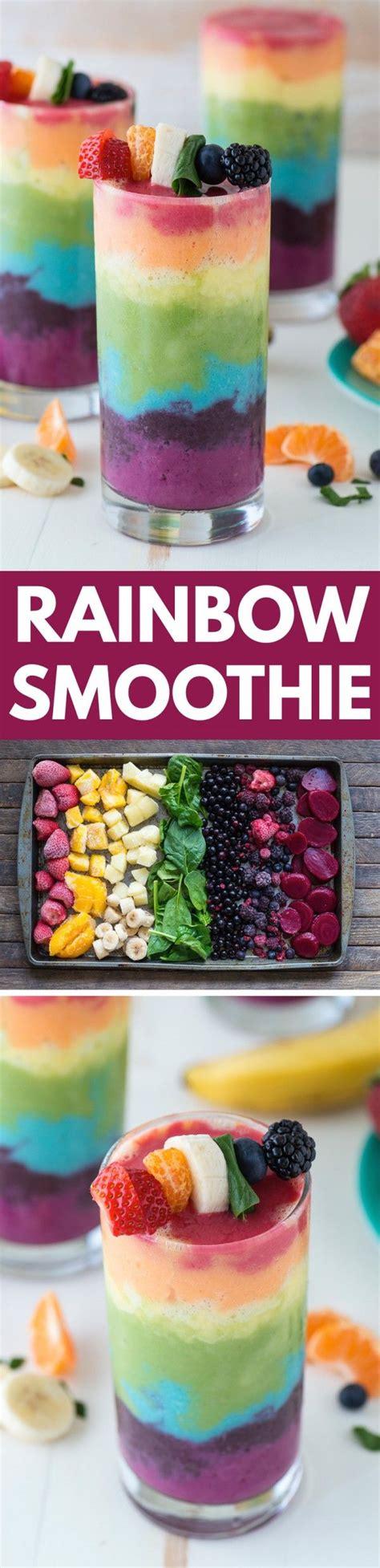Einfaches Rezept Fuer Regenbogen Eis by Regenbogen Smoothie Sweet Smoothie Rezepte Rezepte