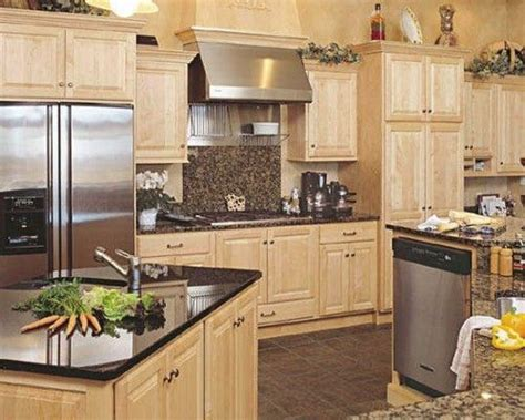maple cabinets with granite countertops maple kitchen cabinets with granite countertops home