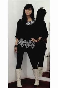 Black Shirts Black Leggings White Boots | u0026quot;new bootsu0026quot; by Francoise | Chictopia