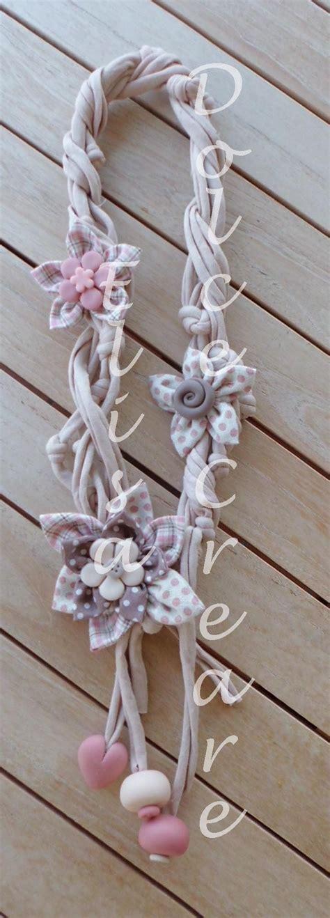 pasta di mais fiori 68 best collane in fettuccia fiori di stoffa e pasta di