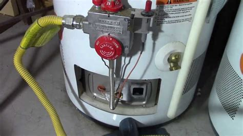 How To Relight A Water Heater Pilot Light Youtube