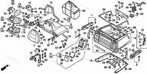 Honda Motorcycle 1995 Oem Parts Diagram For Trunk Box