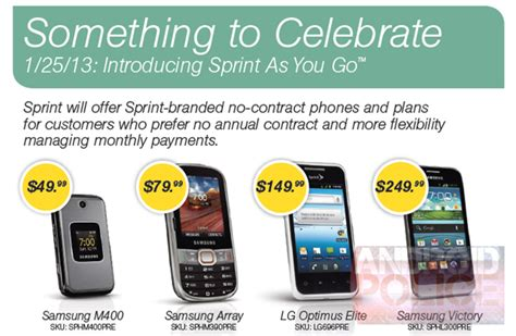 sprint go phone sprint allegedly ready to introduce pay as you go plans on