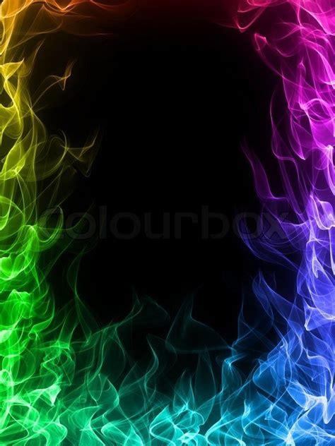 stock foto af ild og flammer rammen pa sort baggrund