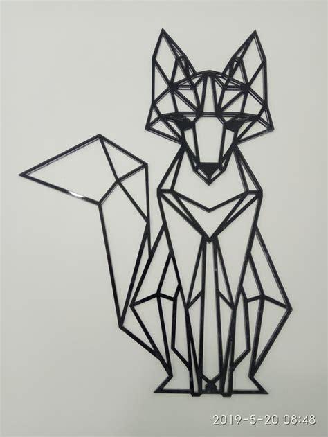 Animales geométricos de metacrilato Zorro de segunda