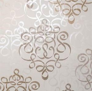 Furniture &Wall Stencil Small Ribbon Damask Stencil ...