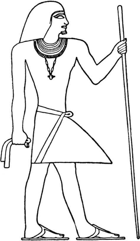 egyptian mans costume clipart