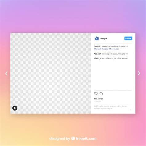 instagram post vorlage  der kostenlosen vektor