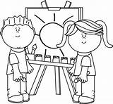 Coloring Pages Painting Clip Clipart Printable Mycutegraphics Animal Daniel Inspirational Easel sketch template