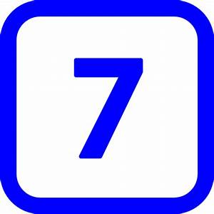 Free blue number 7 icon - Download blue number 7 icon