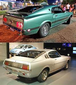 1969 Ford Mustang / 1973 Toyota Celica Liftback | Ford motor company, Small suv