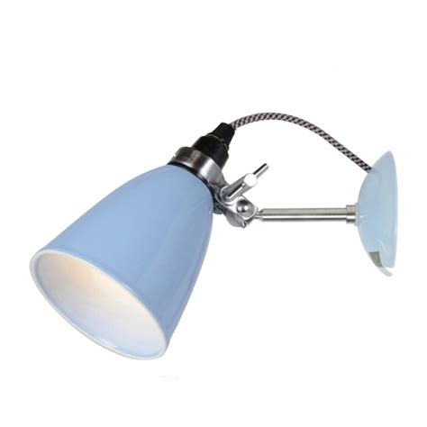 hector small dome wall light natural light blue or light green