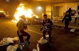 Riot, Police, Try, To, Contain, Chaos, Fires, In, Vancouver, After