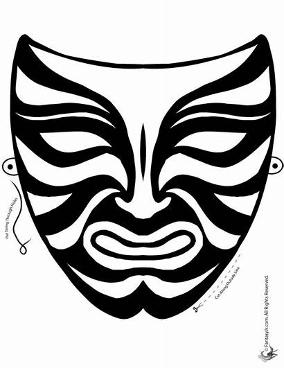 Mask Coloring Pages Printable Chinese Masks Simple