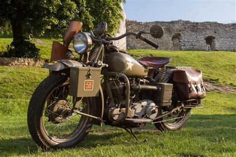 Oude Militaire Motorfiets Uit De Tweede Wereldoorlog