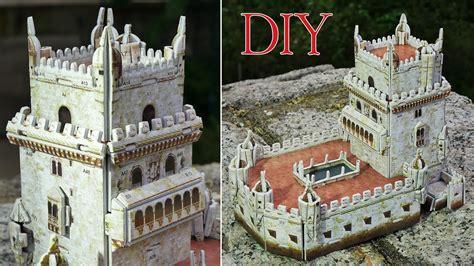 diy build  historic castle diorama belem tower  st