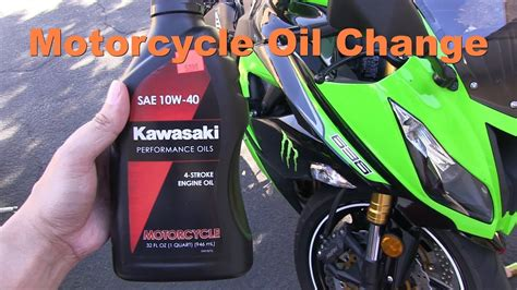 Changing The Oil & Filter Of A Motorcycle