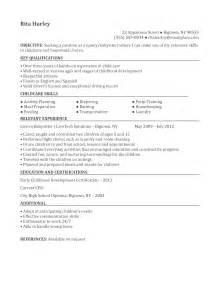 nanny description for resume nanny resume sle