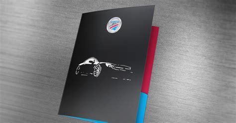 automotive art  pocket folder design