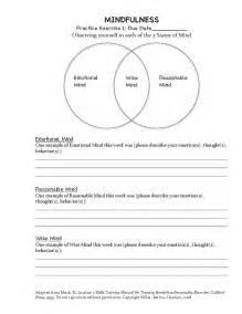 DBT Mindfulness Worksheets