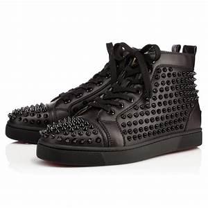 Louboutin Homme Basket : christian louboutin homme louis calf spikes baskets noir ~ Dallasstarsshop.com Idées de Décoration