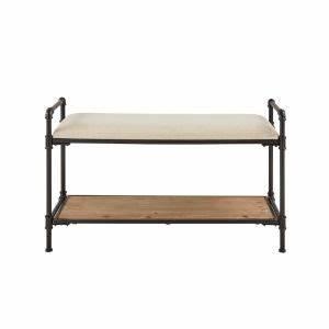 banc entree metal comparer 52 offres With meuble d entree maison du monde 8 banc avec coffre de rangement en bois de sapin et coton l