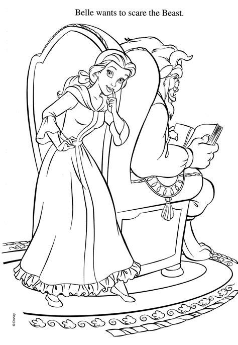 Kleurplaat And The Beast by Kleurplaten Disney En Het Beest Krijg Duizenden