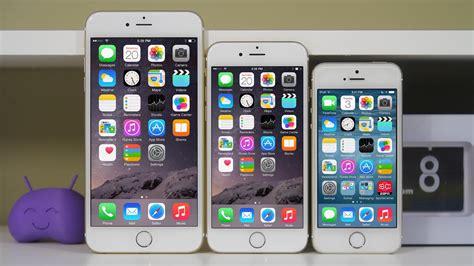 iphone 5s vs 6s iphone 6 vs iphone 6 plus vs iphone 5s comparison
