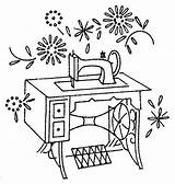 Sewing Machine Singer Coloring Templates Sheet Template Tools sketch template