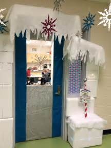Winter Themed Classroom Door Decorations by My Winter Classroom Door Ran To The Speech