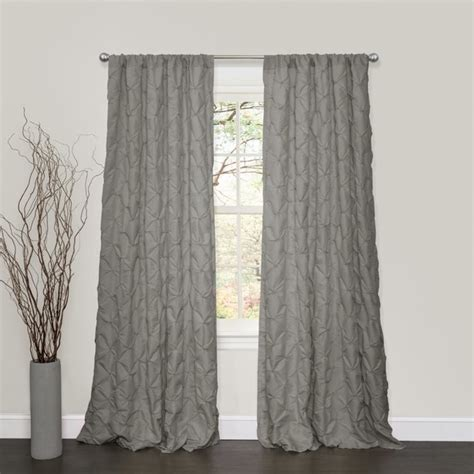 Lush Decor Curtains by Lush Decor Lake Como Grey 84 Inch Curtain Panel