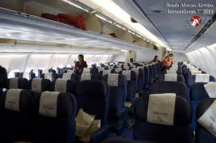 South African Airways A340-600 Interior