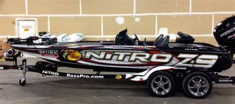 Nitro Boats License Plate by Custom Bass Boat Wraps 2013 Boat Wrap Photo Gallery