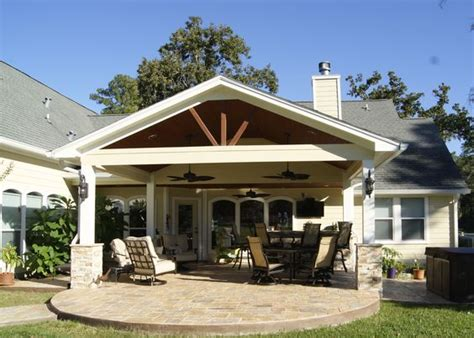 the roof lighting and covered patios on