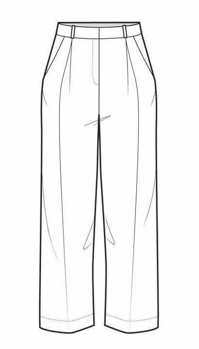 Pants Drawing Sketches Illustration Flat Drawings Coloring