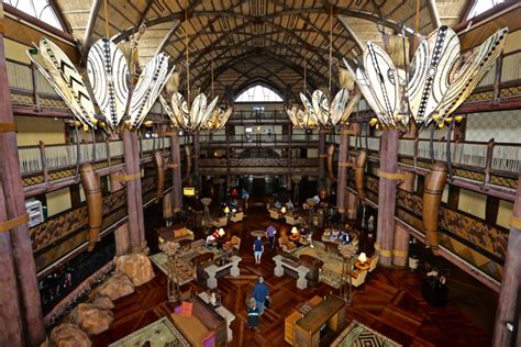 lobby  disneys animal kingdom lodge