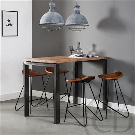 tabouret cuisine ikea table haute de cuisine industrielle pieds métal sur cdc design