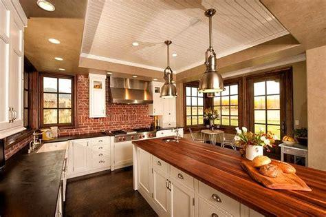brick island kitchen country kitchen designs 1786