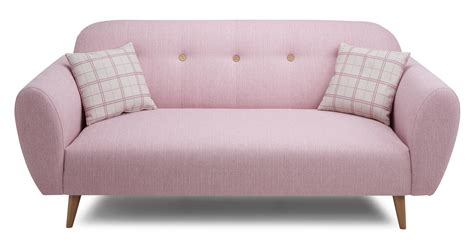 Pink Leather Sofa For Sale by Betsy 3 Seater Sofa Dfs