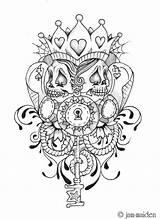 Poker Face Tattoo Deviantart Tattoos Chicano Jam Card Skull Coloring Pages Designs Cards Queen Colouring Adult Camp James sketch template
