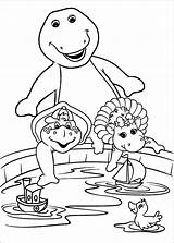 Barney Coloring Pages Barnie Print sketch template