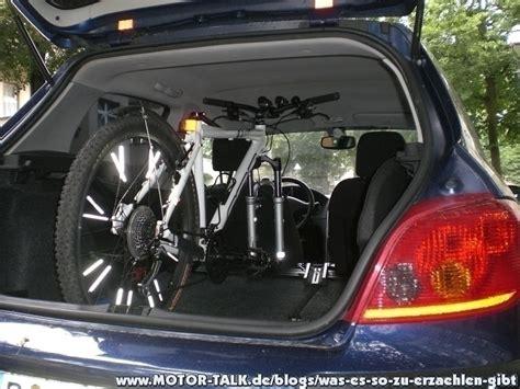 fahrrad im auto transportieren fahrradtransport im auto was es so zu erz 228 hlen gibt