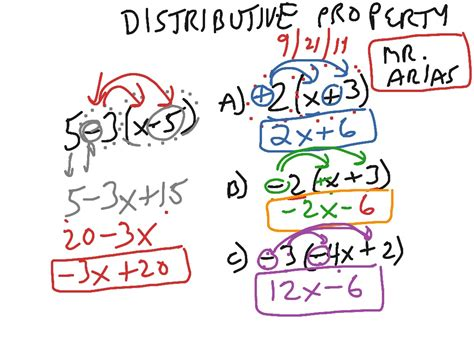 distributive property of multiplication worksheets with