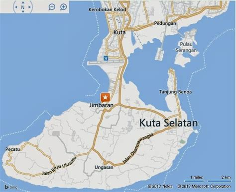 complete location map  jimbaran bay bali island bali