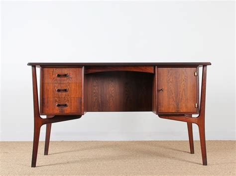 bureau vintage scandinave scandinavian rosewood desk galerie møbler