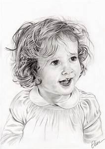 Fille Noir Et Blanc : commandez un portrait dessin de votre enfant ou b b d ~ Melissatoandfro.com Idées de Décoration