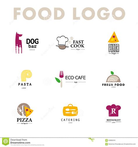 cuisine co vector set of restaurant logo design templates stock