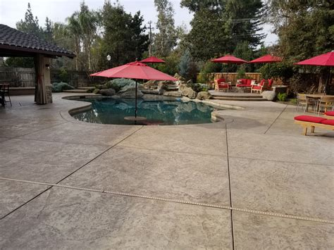 Textured Concrete Around Pool